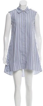 Caroline Constas Striped High-Low Tunic