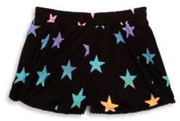 Flowers by Zoe Girls' Printed Pom-Pom Shorts