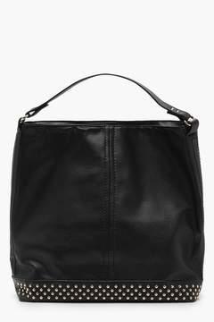boohoo Studded Base Hobo Day Bag