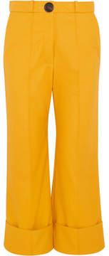 Awake Faux Leather Pants - Saffron