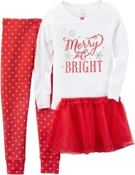 Carter's Baby Girls 3-pc. Merry & Bright Pajama Set
