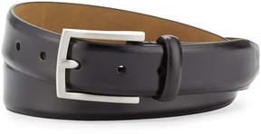 Neiman Marcus Leather 32MM Flap Buckle Belt, Black