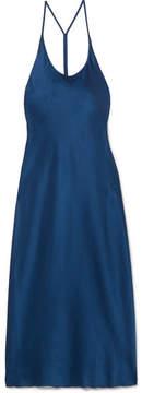 Alexander Wang Satin Midi Dress - Storm blue