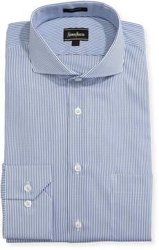 Neiman Marcus Classic-Fit Regular-Finish Striped Dress Shirt