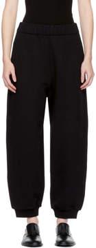Alexander Wang Black High-Rise Fleece Lounge Pants