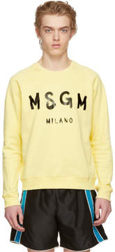 MSGM Yellow Logo Sweatshirt
