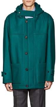 Gosha Rubchinskiy Men's Hooded Wool Melton Duffle Coat