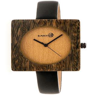Earth Wood Unisex Green Strap Watch