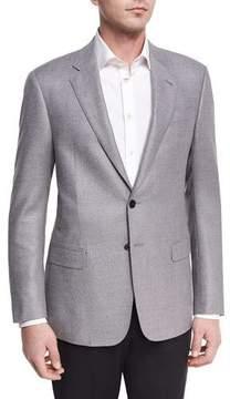 Giorgio Armani Textured Two-Button Sport Coat, Light Gray