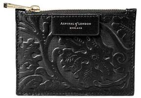 Aspinal of London Small Essential Pouch In Smooth Dahlia