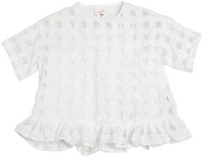 Il Gufo Silk Organza & Cotton Muslin Top