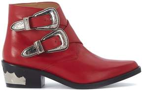 Toga Pulla Texan In Red Leather