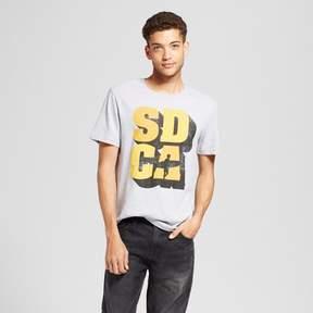 Awake Men's California SD CA Surf T-Shirt Gray