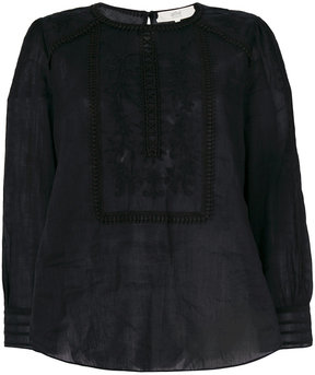 Vanessa Bruno embroidered flared blouse