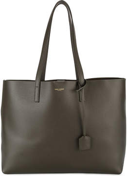 Saint Laurent large khaki leather Shopper tote bag - GREEN - STYLE