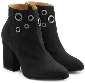 Sonia Rykiel Embellished Suede Ankle Boots