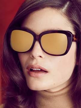 Linda Farrow Luxe Women's 24K Gold Square Frame
