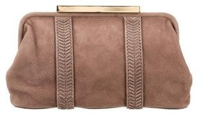 Tory Burch Whipstitch Frame Clutch - BROWN - STYLE