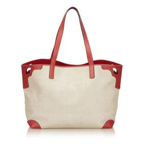 Cartier C White Cloth Handbag