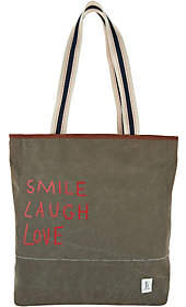 ED Ellen Degeneres Canvas and Leather Tote Dakin