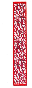 Lanvin | Logo Graphic Scarf | Ruby