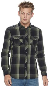 Rock & Republic Men's Plaid Stretch Poplin Button-Down Shirt