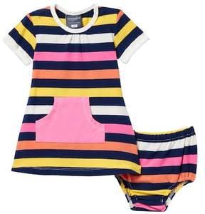 Toobydoo Jamie Striped Pocket Dress (Baby, Toddler, & Little Girls)