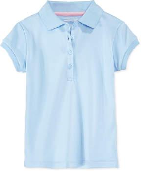 Nautica School Uniform Bow-Sleeve Polo, Little Girls (4-6X)