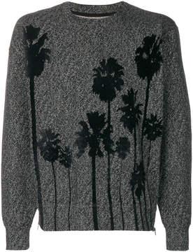 Christian Pellizzari palm tree motif jumper