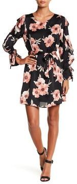 Collective Concepts Floral Shift Ruffle Dress