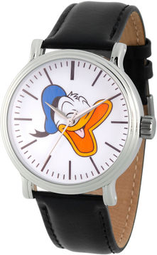 Disney Mickey and Friends Mens Black Strap Watch-Wds000338