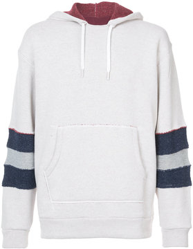MAISON KITSUNÉ striped sleeve hoodie