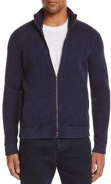 Bloomingdale's The Men's Store at Ribbed Cotton Zip Cardigan Sweater - 100% Exclusive