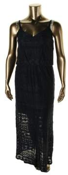 Vince Camuto Women's Blouson Tank Maxi Dress (14, Navy)