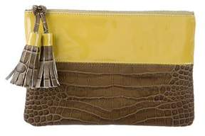 Suno Bicolor Tassel-Embellished Clutch w/ Tags