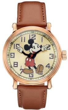Disney Disney's Mickey Mouse Men's Leather Watch