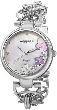 Akribos XXIV Mother of Pearl Dial Silver-tone Ladies Watch AK645SS