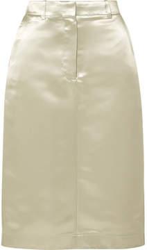 Calvin Klein Satin Midi Skirt - Silver