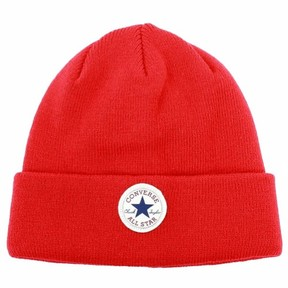 Converse Men's Red Beanie Knit Watch Cap Hat (One Size Fits Most)