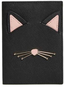 Kate Spade Cat's Meow Leather Passport Holder