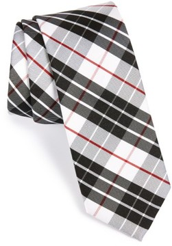 1901 Men's 'Boulan' Plaid Woven Silk Tie