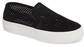 Steve Madden Women's Gills Perforated Slip-On Sneaker