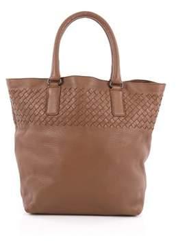 Bottega Veneta Pre-owned: Open Tote Leather With Intrecciato Detail Medium.