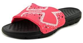Under Armour Strike Bliss Sl Youth Open Toe Synthetic Pink Slides Sandal.