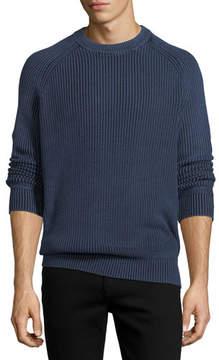 Neiman Marcus Stonewash Fisherman Sweater
