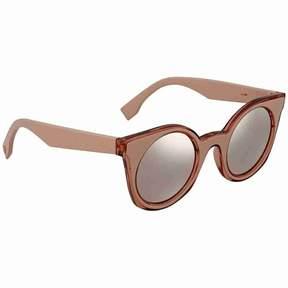 Fendi Grey-Rose Gold Mirrored Round Sunglasses FF 0196/S JQ2480J
