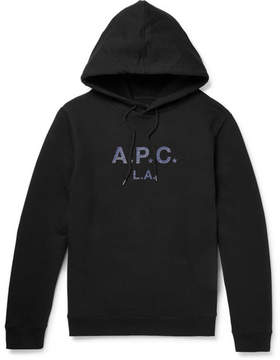 A.P.C. L.a. Printed Cotton-Jersey Hoodie
