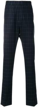 Bottega Veneta grid print trousers