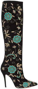 Oscar de la Renta Epresi floral embroidered knee boots