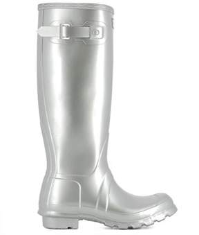 Hunter Women's Silver Rubber Boots.